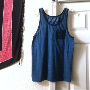 Kohl's Tony Hawk Blue Mini Stripe Pocket Tank Top